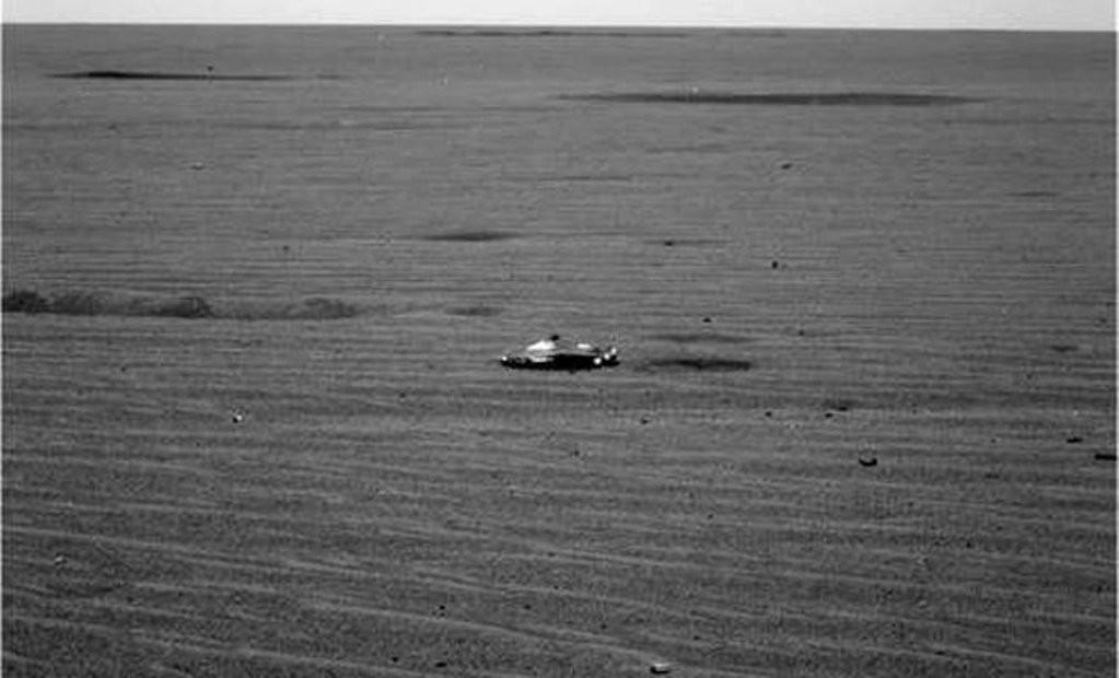 Уфологи обнаружили корабль пришельцев, который разбился наМарсе