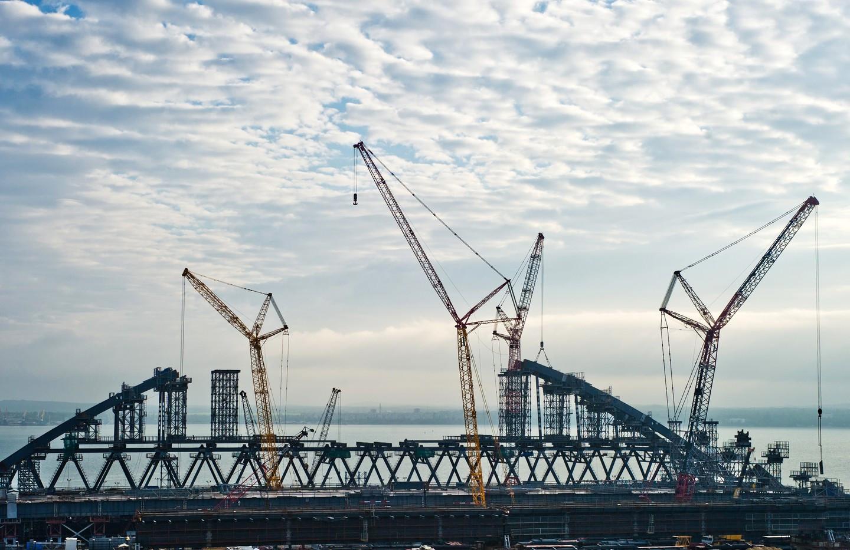 Крымский мост: арки будут установлены согласно графика