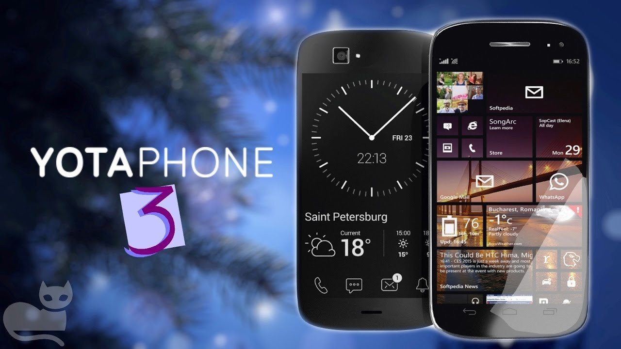 Первые фотографии нового YotaPhone 3 опубликованы в Сети