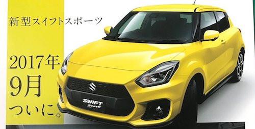 Вweb-сети интернет опубликовали фотографии брошюры сновым Сузуки Swift Sport
