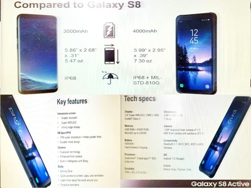 В Сети появились реальные фото Samsung Galaxy S8 Active