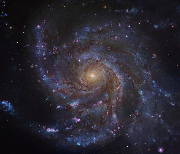 Телескоп Hubble сфотографировал «скрытую галактику»
