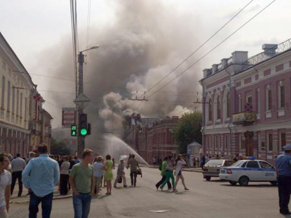 В Туле произошел пожар в недостроенном торговом центре