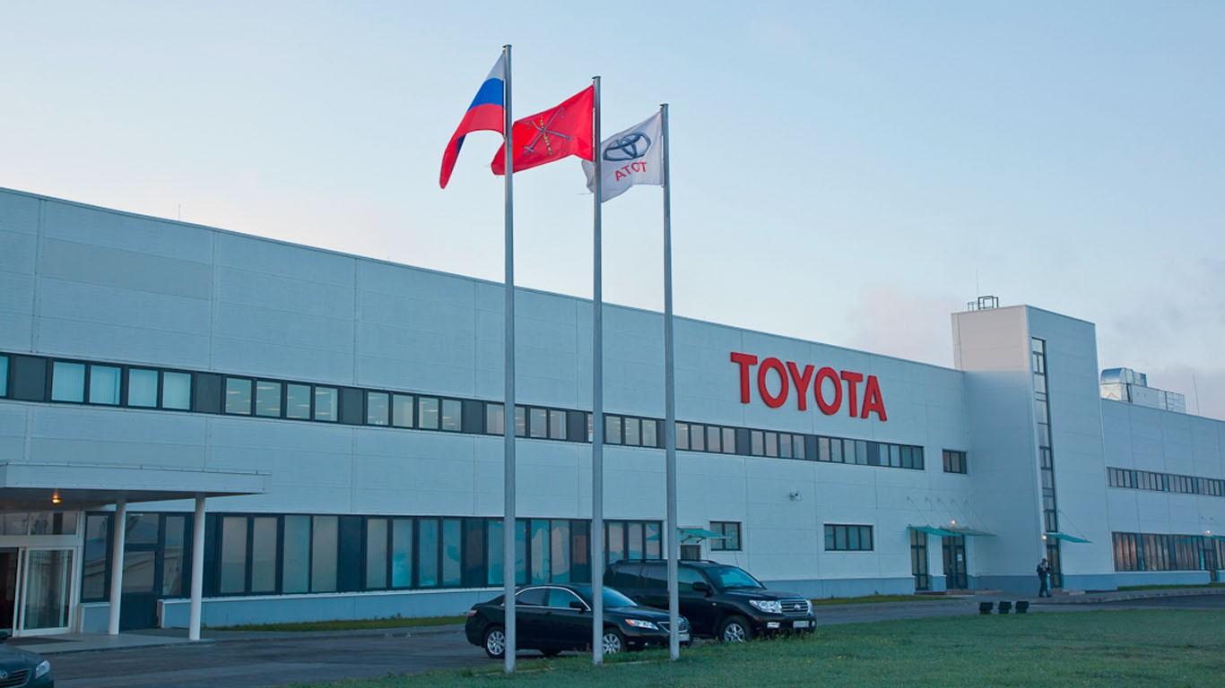 Петербургский завод Тоёта  уходит вколлективный отпуск надве недели