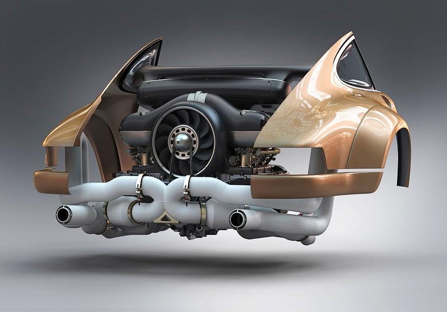 Для старого Porsche разработали уникальный 500-сильный мотор