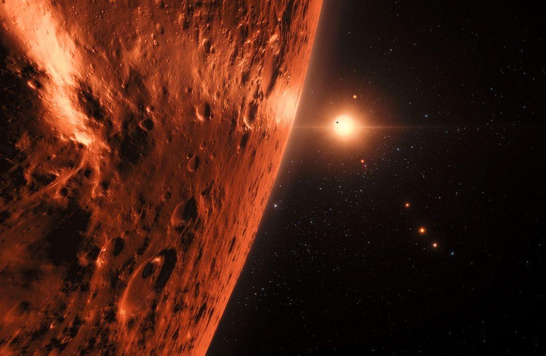 Система TRAPPIST-1 с землеподобными планетами оказалась старше Солнечной