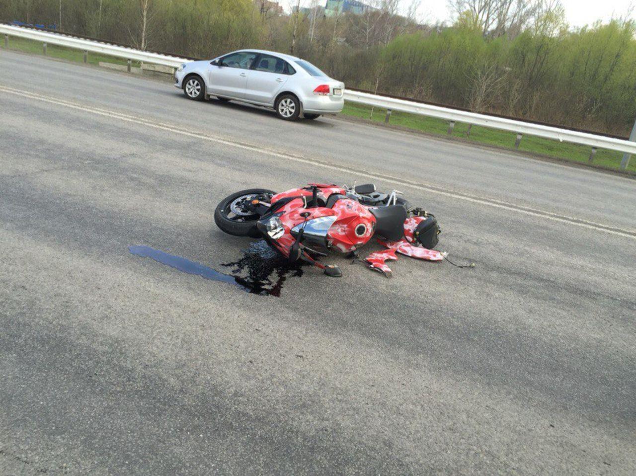 Мотоциклист пострадал вДТП насевере столицы