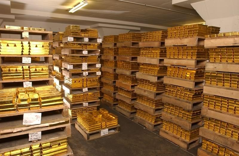 Россия нарастила запасы золота виюле на12 тонн