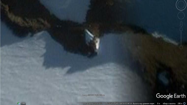 Уфолог обнаружил гигантский НЛО в горах Антарктиды