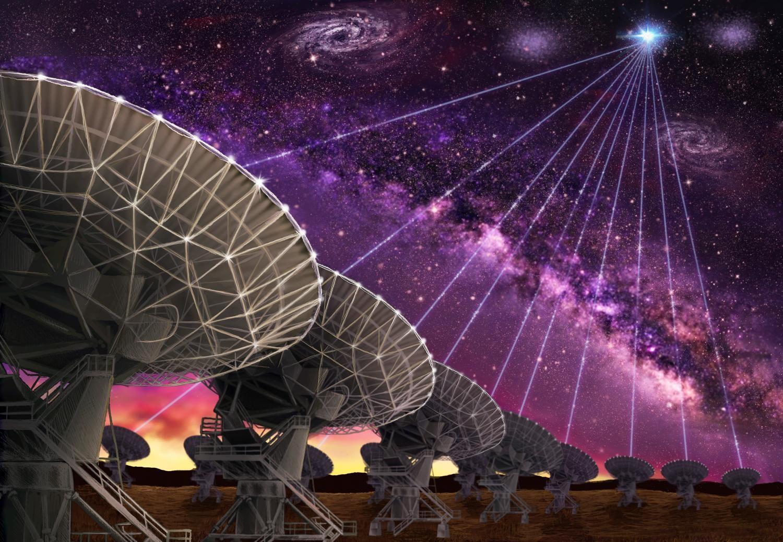 Далекая галактика «заговорила» с астрономами