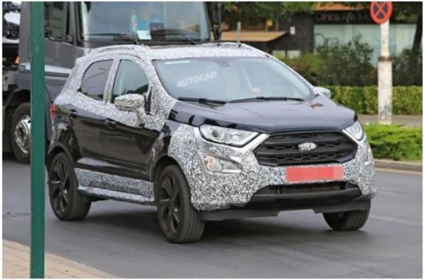 Обновлённый Ford EcoSport ST-Line запечатлели на дорожных тестах