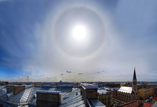 Жителям Петербурга на несколько минут явилось «второе Солнце»