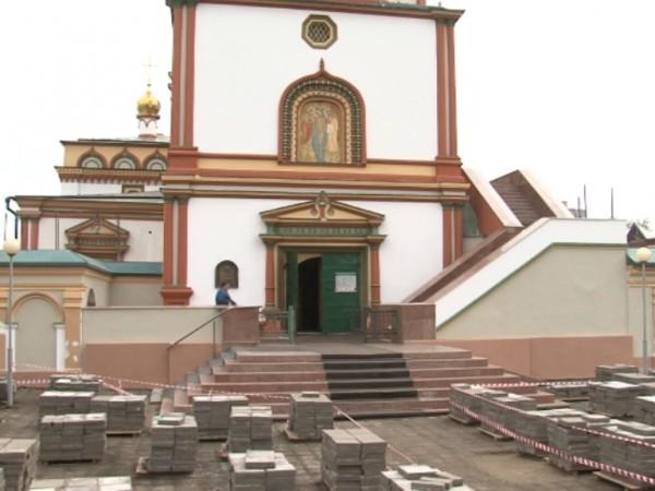 В Иркутске сквер перед собором Богоявления обустроят до конца лета