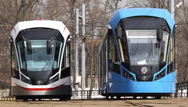 С начала года Москва получила 75 новых трамваев «Витязь М»