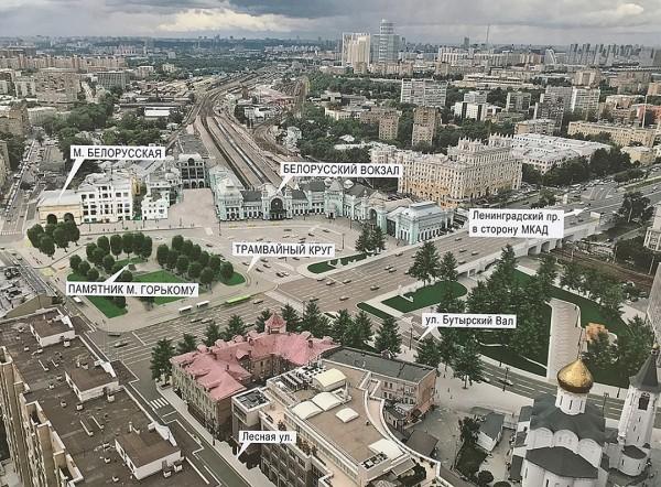 В Москве подходит к концу реконструкция площади Тверская Застава