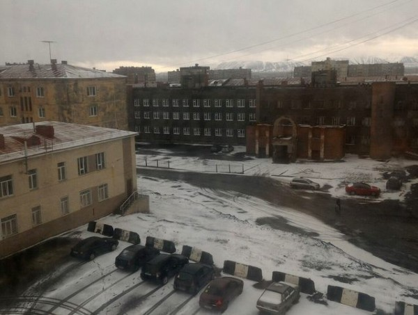 В Норильске сегодня прошел летний снегопад