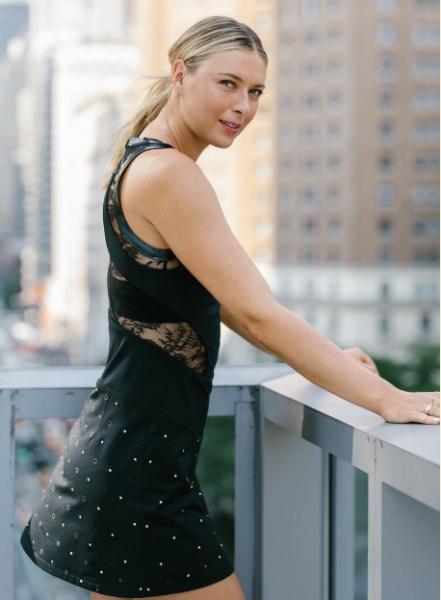 Шарапова выступит на US Open в черном платье с кристаллами Swarovski