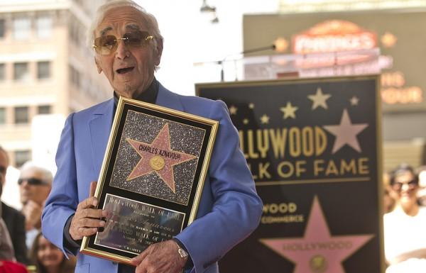 Шарль Азнавур получил звезду на «Аллее славы» в Голливуде