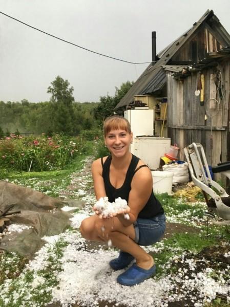 На Южном Урале выпал град размером с яйцо перепела