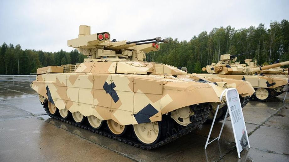 Российскими, боевыми машинами поддержки танков «Терминатор» заинтересовались Сирия иИзраиль