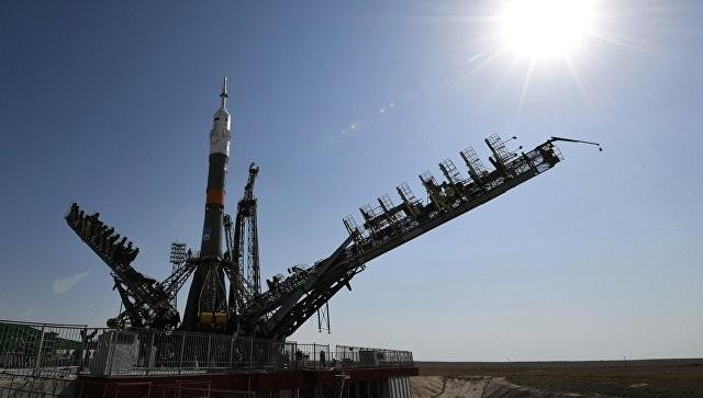 Ракету спилотируемым кораблем «Союз МС-06» установили настарт наБайконуре