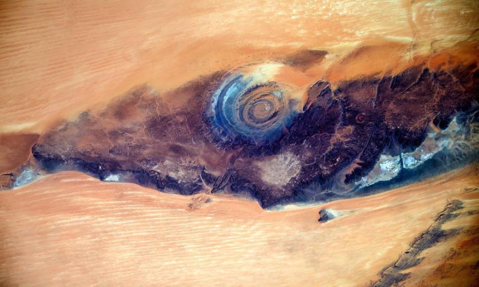 Космонавт МКС запечатлел «Глаз Сахары»— Незабываемый взгляд