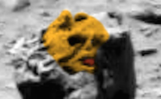 Уфологи обнаружили наснимках Марса каменную голову инопланетянина