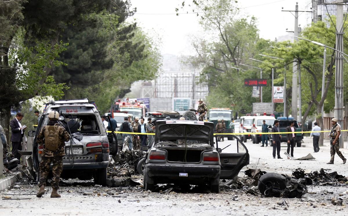 ВАфганистане произошел мощнейший  взрыв нарынке
