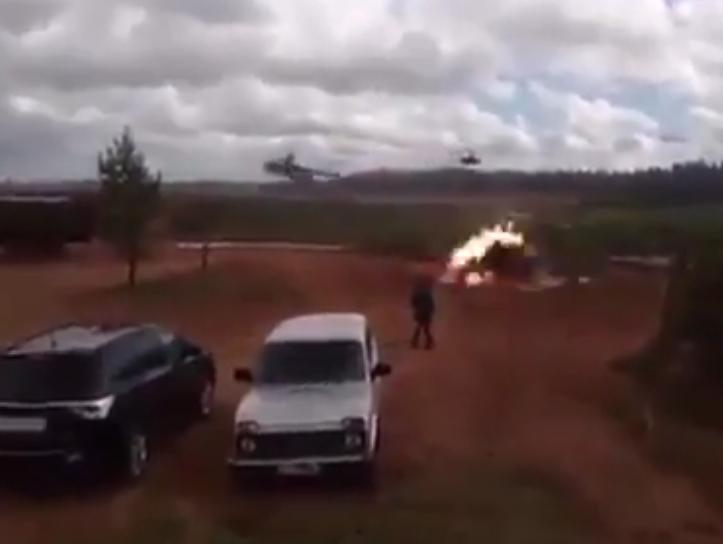 Видео попадания ракеты вавтомобиль снято ненаучениях «Запад-2017»