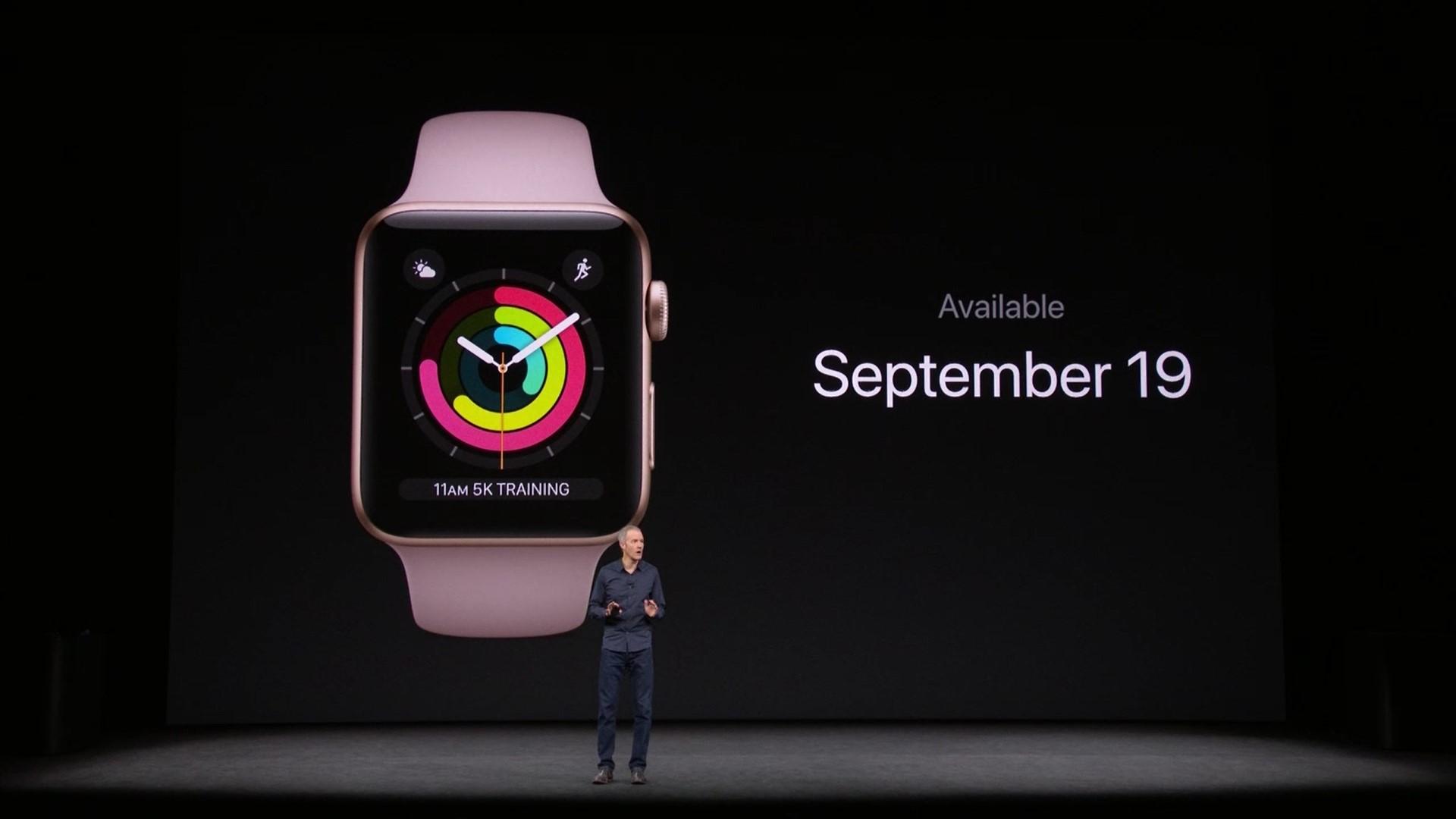Смарт-часы Apple Watch Series 3 вышли нарынок