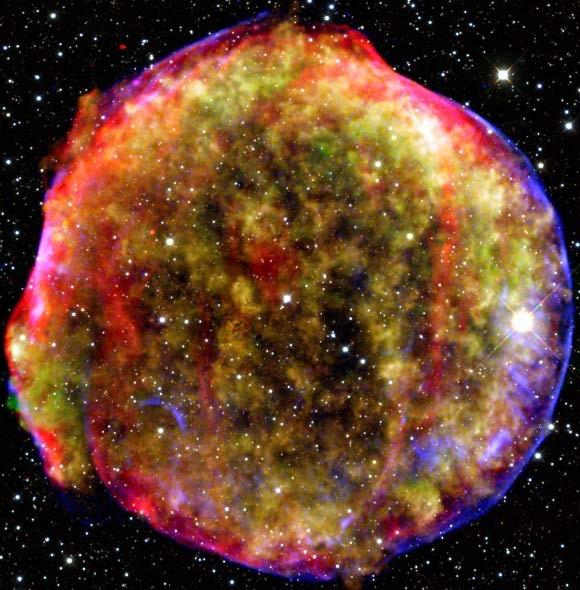 Ученые заглянули в прошедшее сверхновой звезды Тихо Браге