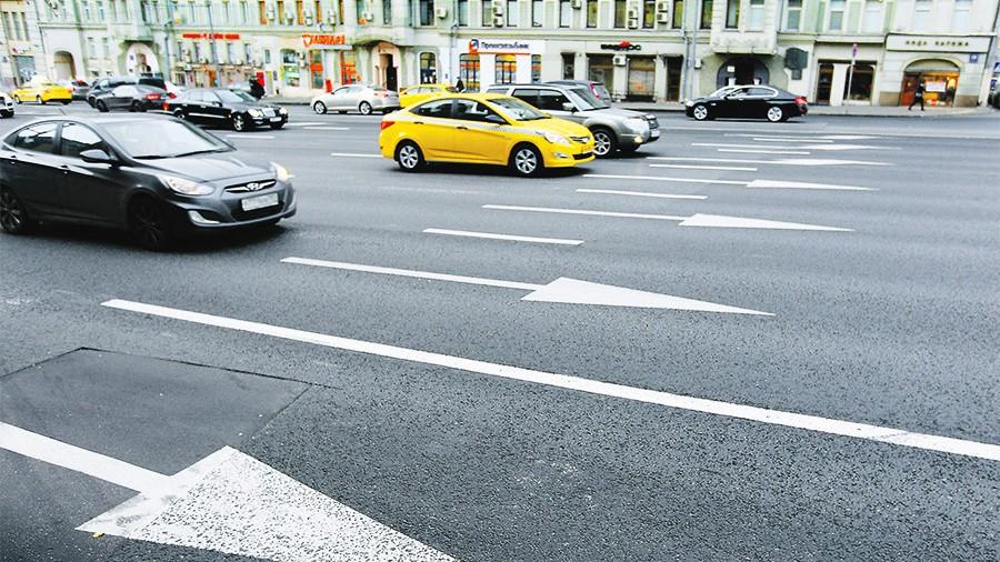 «Умная» дорожная разметка ускорила улицы столицы