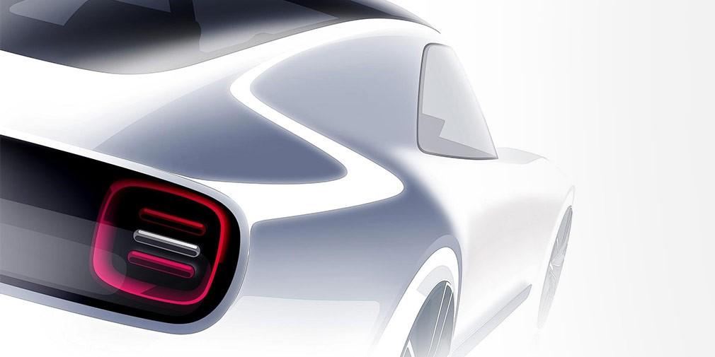 Хонда показала эскиз электрического купе