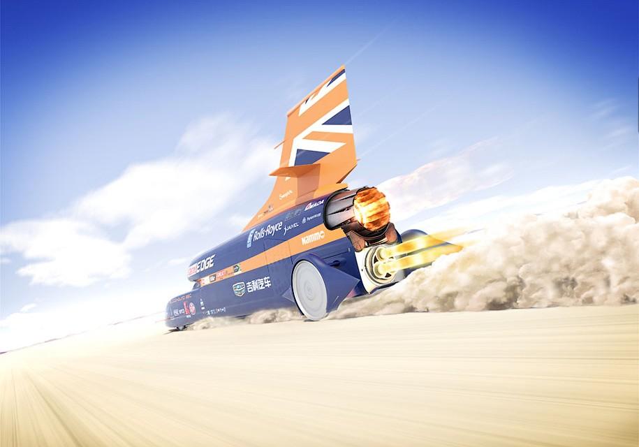 Британцы испытали 135000-сильный двигатель для сверхзвукового автомобиля