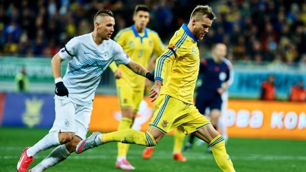 После победы над Турцией Украина вышла в лидеры группы отбора ЧМ-2018