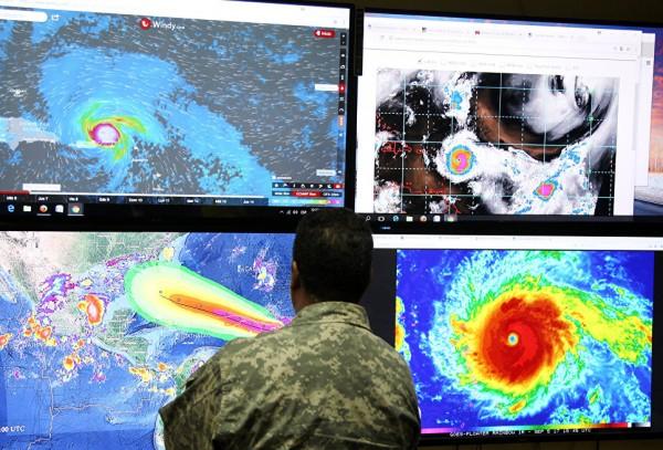 Ураган «Ирма» обрушился на Антигуа и Барбуда в Карибском море