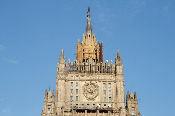 В Москве завершили реконструкцию шпиля здания МИД РФ