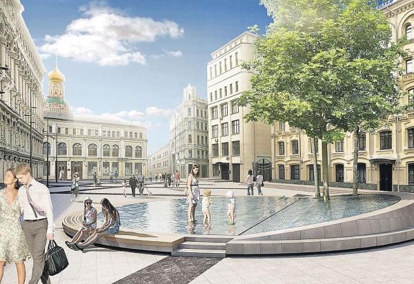 Биржевую площадь в Москве с 23 сентября перекроют для движения транспорта