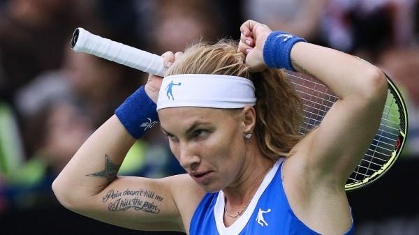 Российская теннисистка Кузнецова проиграла француженке Конре