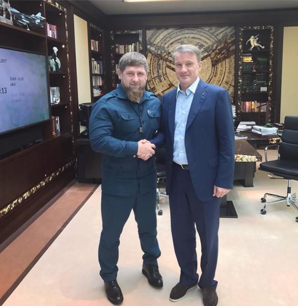 Рамзан Кадыров трижды перепутал отчество главы Сбербанка