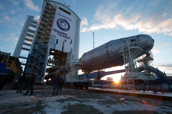 НаВосточном начался «сухой вывоз» ракеты носителя «Союз-2»
