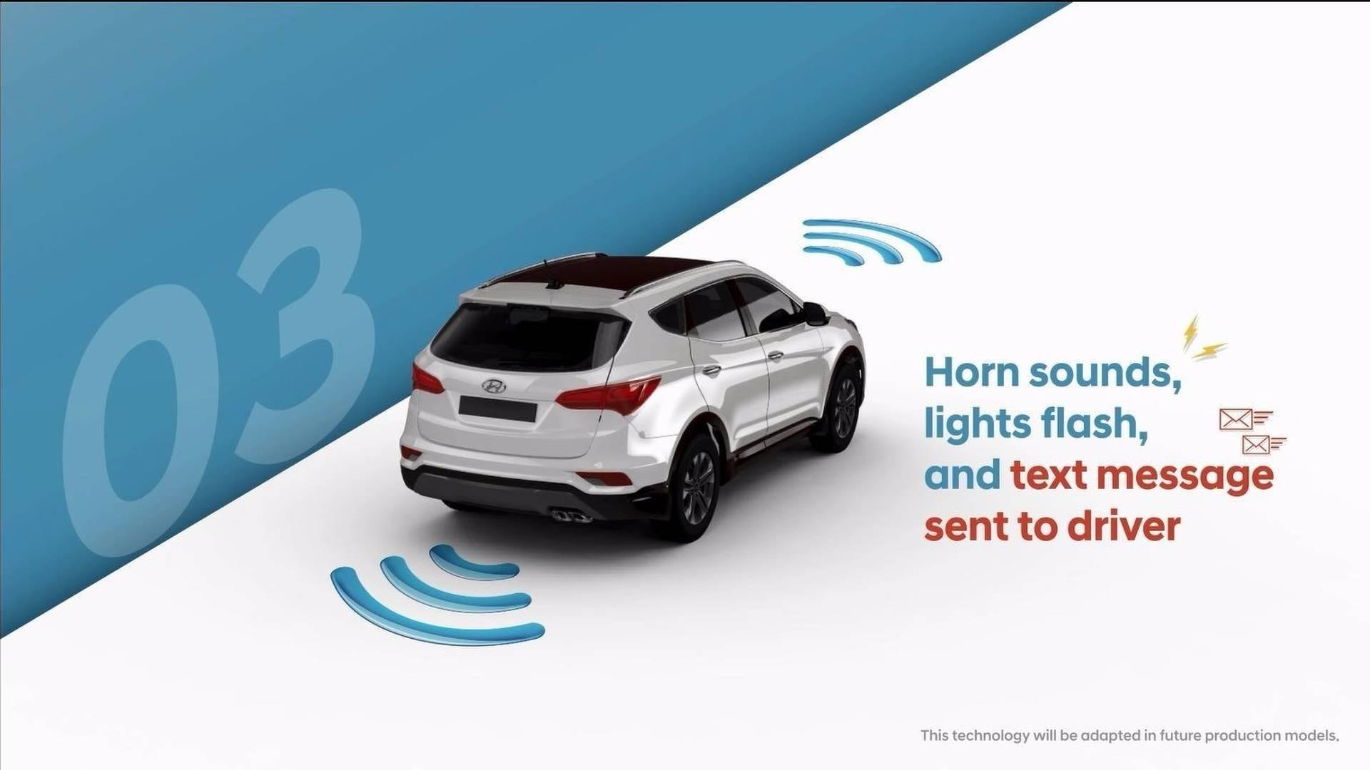 Автомобили Хюндай будут предупреждать водителей озабытых всалоне детях