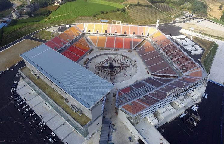 Строительство арены, накоторой пройдут церемонии открытия изакрытия ОИ-2018, окончено