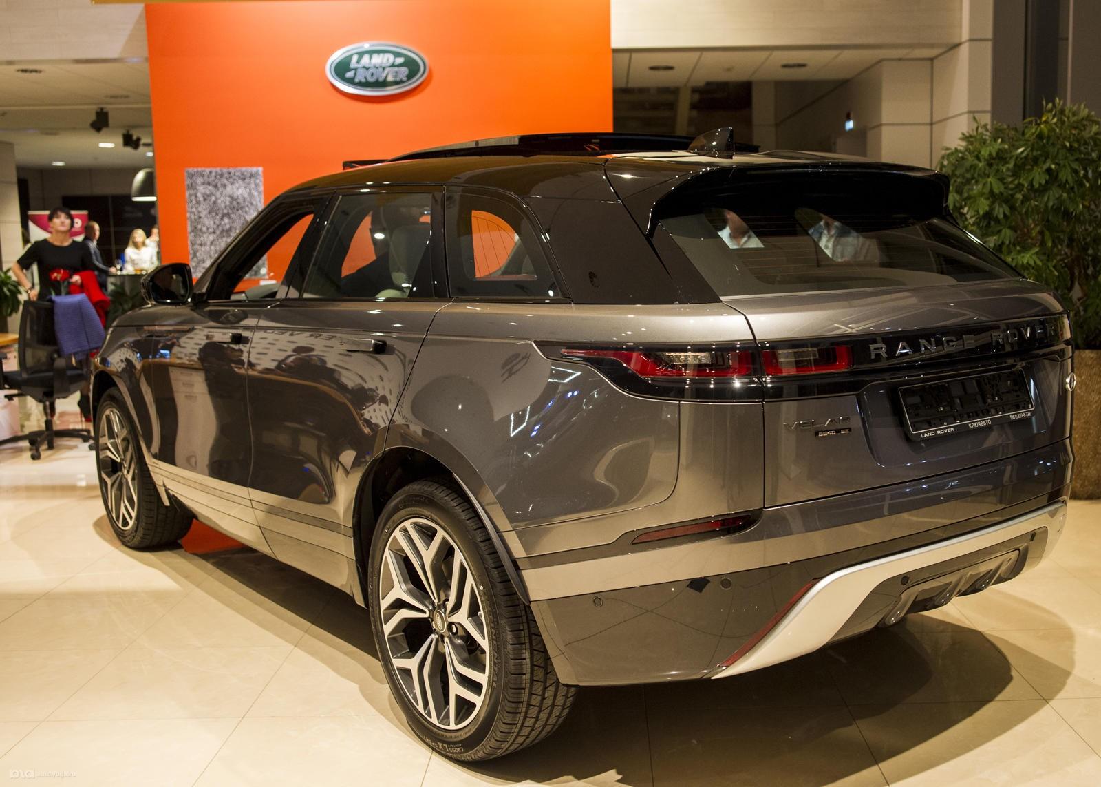 Range Rover Velar представили вПетербурге