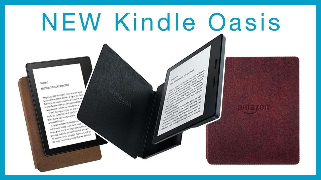 Ридер Kindle Oasis небоится воды иподключается ксетям 3G