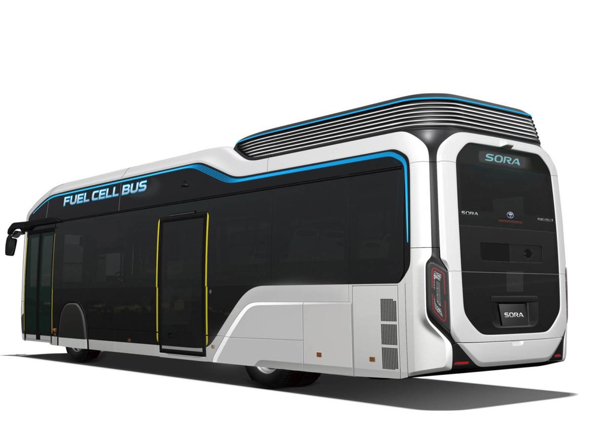 Тоёта привезет вТокио водородный автобус Sora