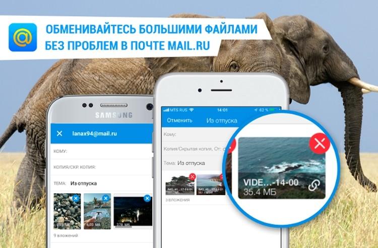 Mail.ru активизировала пересылку данных огромного объема поe-mail