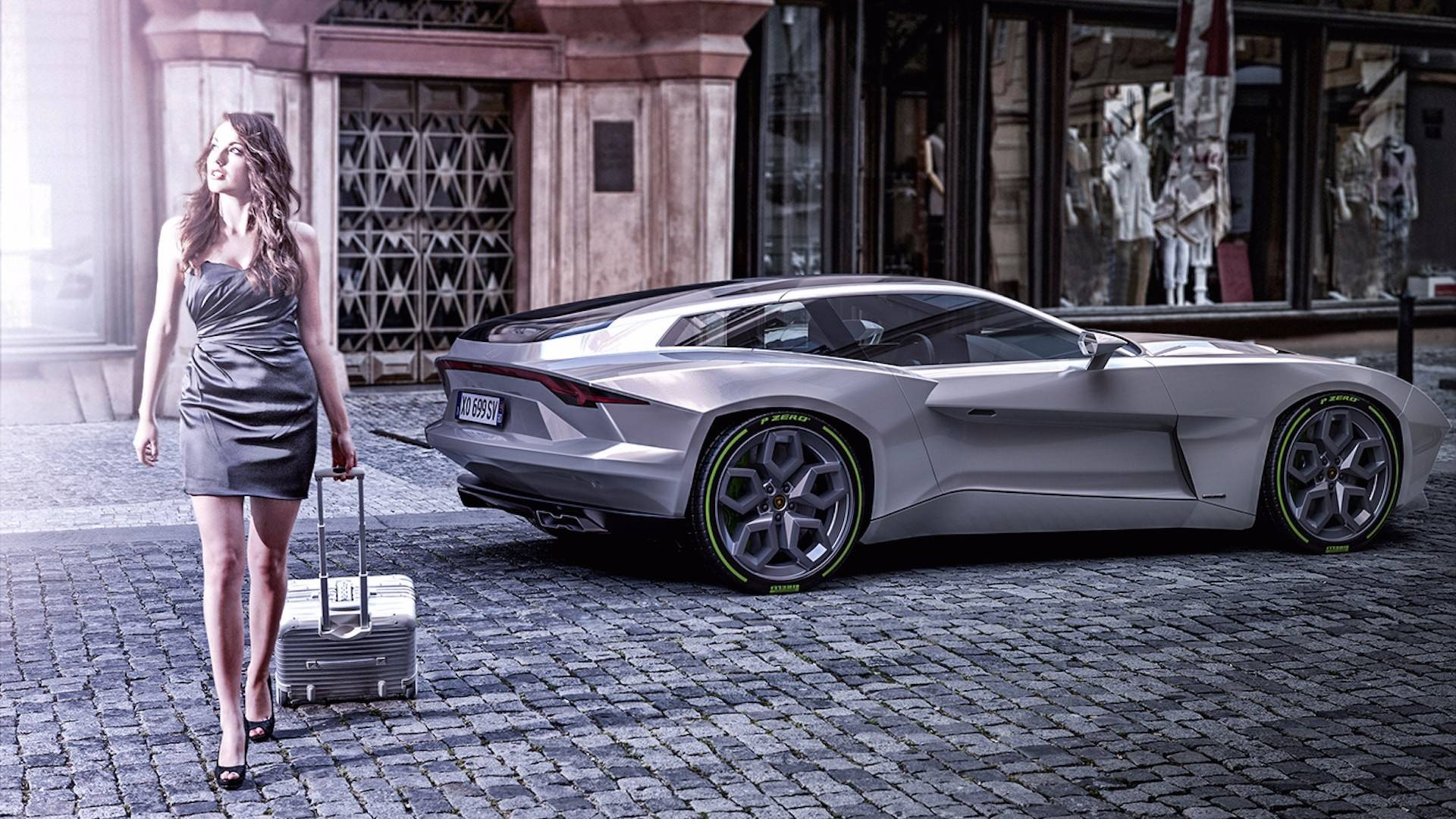 Русский художник представил рендер суперкара Lamborghini вкузове Shooting Brake