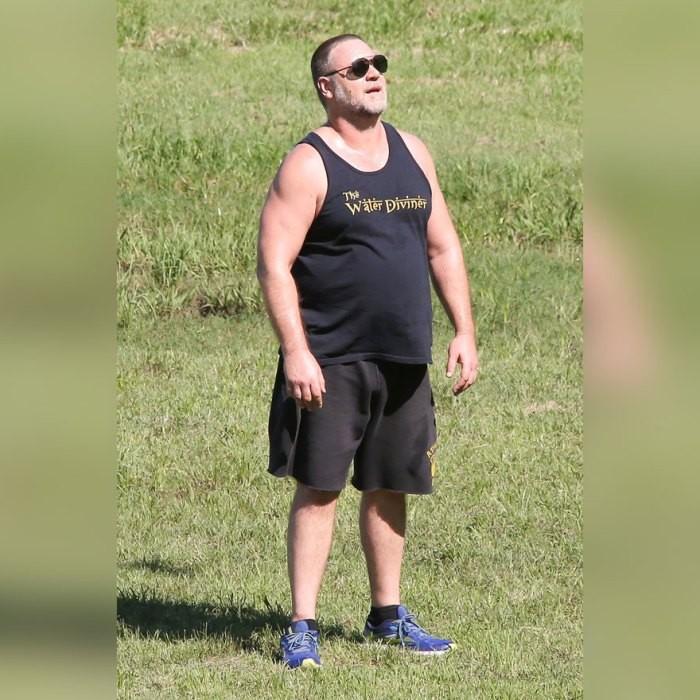 Рассел Кроу стремительно набирает вес