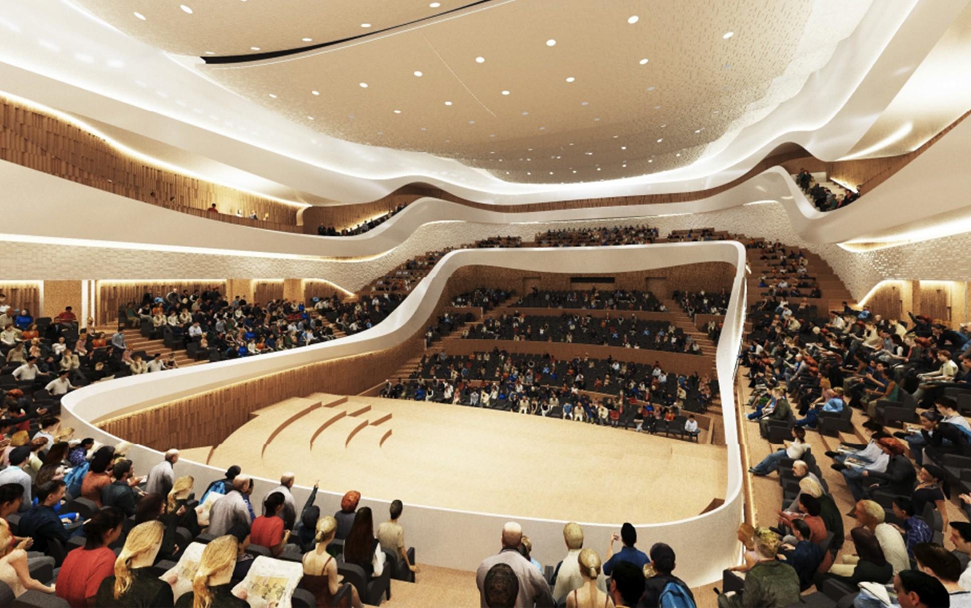 Трансформируемый партер концертного зала парка «Зарядье» планируется смонтировать доконца этого года